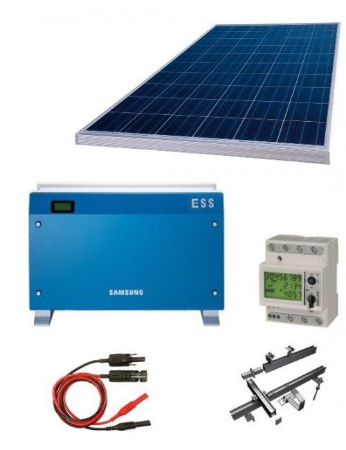 KIT SOLARE FOTOVOLTAICO 6 KW COMPLETO + BATTERIA D'ACCUMULO E INVERTER SAMSUNG SDI ALL-IN-ONE 3600