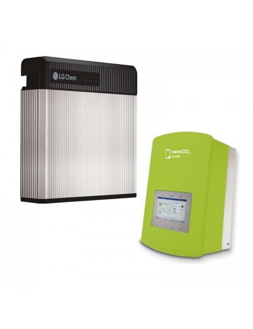 Batteria d'Accumulo Fotovoltaico 9,8 kWh LG Chem RESU10 Retrofit e Inverter Ibrido Monofase 3 kW Solis ZeroCO2 Small