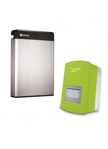 Batteria d'Accumulo Fotovoltaico 6,5 kWh LG Chem RESU6.5 Retrofit e Inverter Ibrido Monofase 3 kW Solis ZeroCO2 Small