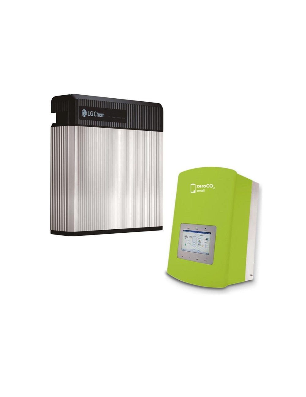 Batteria d'Accumulo Fotovoltaico 9,8 kWh LG Chem RESU10 Kit Retrofit e Inverter Ibrido Monofase 5 kW Solis ZeroCO2 Small