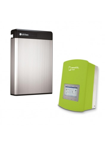 Batteria d'Accumulo Fotovoltaico 6,5 kWh LG Chem RESU6.5 Kit Retrofit e Inverter Ibrido Monofase 5 kW Solis ZeroCO2 Small