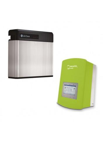 Batteria d'Accumulo Fotovoltaico 3,3 kWh LG Chem RESU3.3 Kit Retrofit e Inverter Ibrido Monofase 3 kW Solis ZeroCO2 Small