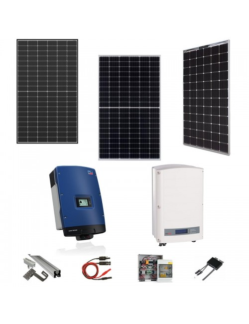 Kit Fotovoltaico Trifase 8 kWp con Pannelli, Inverter, Strutture e Accessori
