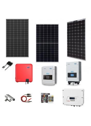 Kit Fotovoltaico 4,5 kWp Impianto Solare Completo con Pannelli, Inverter, Strutture e Accessori