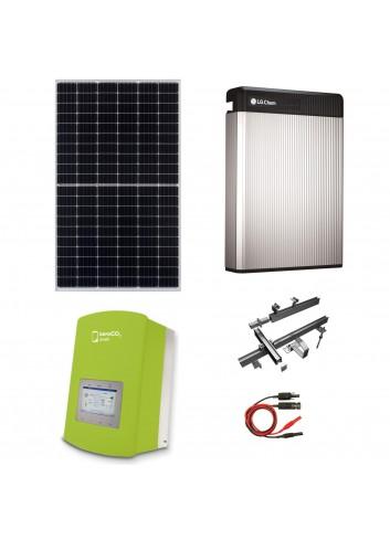 Kit Fotovoltaico 6 kW con Batteria d'Accumulo LG Chem 6,5 kWh 48V RESU6.5 e Inverter Ibrido Monofase 6 kW Solis ZeroCO2 Small