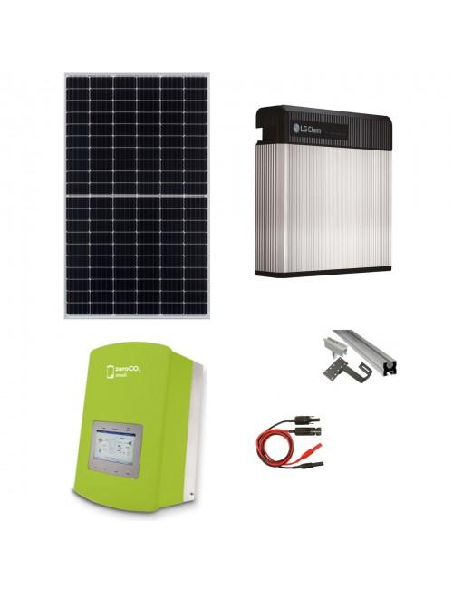 Kit Fotovoltaico 6 kW con Batteria d'Accumulo LG Chem 9,8 kWh 48V RESU10 e Inverter Ibrido Monofase 6 kW Solis ZeroCO2 Small