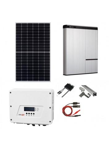 Kit Fotovoltaico 6 kW con Sistema di Accumulo 9,8 kWh LG Chem RESU10H e Inverter SolarEdge HD Wave SE6000H con Ottimizzatori