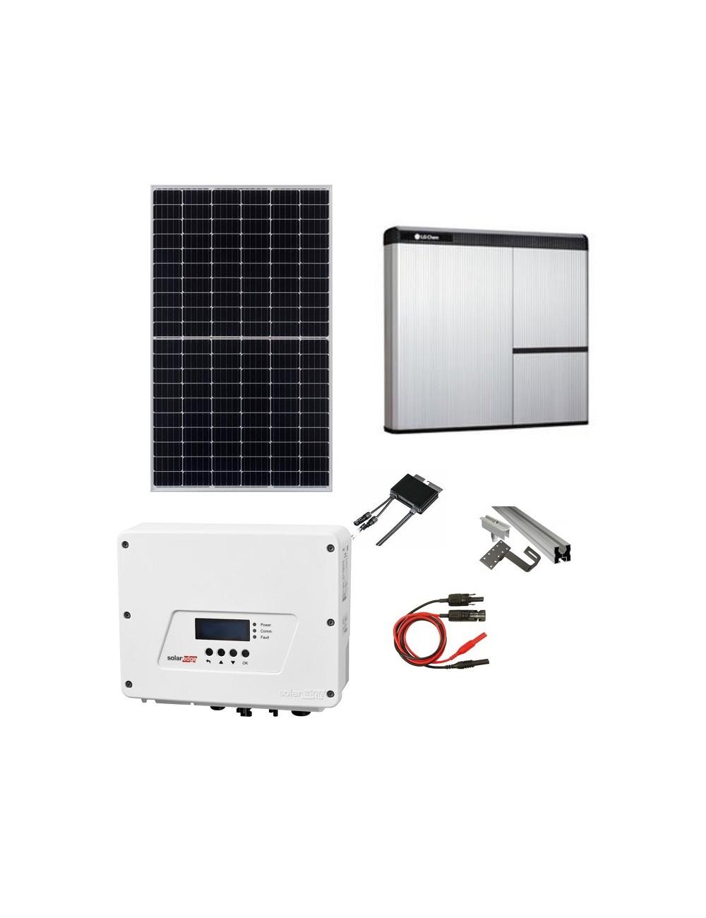 Kit Fotovoltaico 6 kW con Sistema di Accumulo 7 kWh LG Chem RESU7H e Inverter SolarEdge HD Wave SE6000H con Ottimizzatori