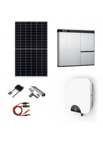 Kit Fotovoltaico 5 kWp con Batteria d'Accumulo LG Chem 7 kWh 400V AC RESU7H e Inverter Ibrido 5 kW Huawei SUN2000‐5KTL