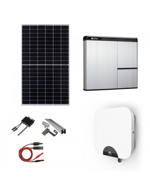 Kit Fotovoltaico 5 kWp con Batteria d'Accumulo LG Chem 7 kWh 400V AC RESU7H e Inverter Ibrido 5 kW Huawei SUN2000‐5KTL
