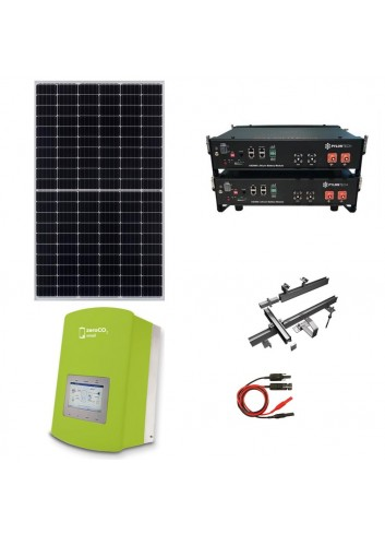 Kit Fotovoltaico 4,5 kW con Batteria d'Accumulo Pylontech e Inverter Ibrido Monofase 5 kW Solis ZeroCO2 Small