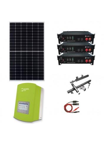 Kit Fotovoltaico 3 kW con Batteria d'Accumulo Pylontech e Inverter Ibrido Monofase 3 kW Solis ZeroCO2 Small