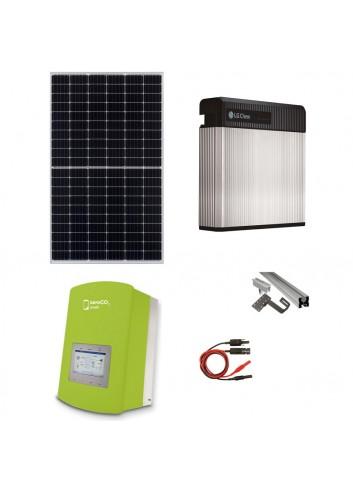 Kit Fotovoltaico 3 kW con Batteria d'Accumulo LG Chem 3,3 kWh 48V RESU3.3 e Inverter Ibrido 3 kW Solis ZeroCO2 Small