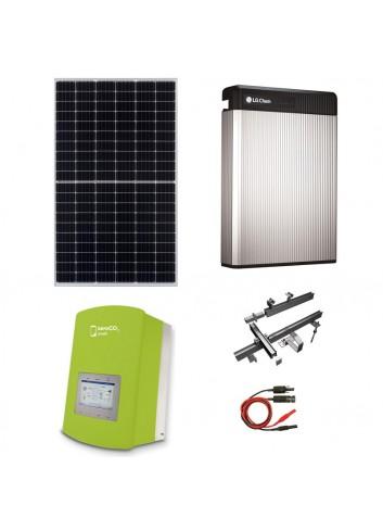 Kit Fotovoltaico 3 kW con Batteria d'Accumulo LG Chem 6,5 kWh 48V RESU6.5 e Inverter Ibrido 3 kW Solis ZeroCO2 Small