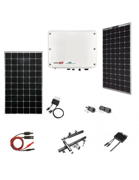 Kit Fotovoltaico 6 kW SolarEdge Monofase con Pannelli SolarEdge, Inverter SolarEdge, Ottimizzatori, Strutture e Accessori
