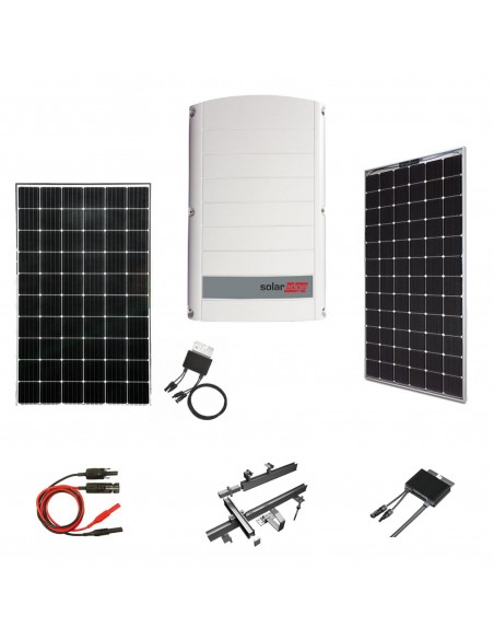 Kit Fotovoltaico 15 kW SolarEdge Trifase con Pannelli SolarEdge, Inverter SolarEdge, Ottimizzatori, Strutture e Accessori