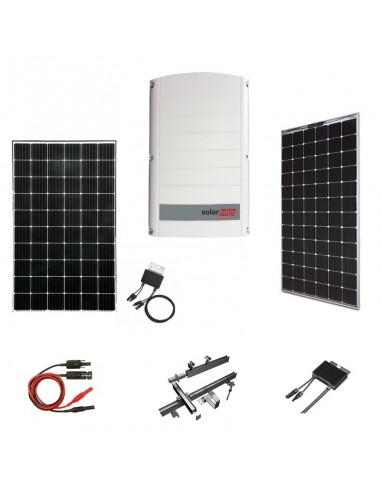 Kit Fotovoltaico 8 kW SolarEdge Trifase con Pannelli SolarEdge, Inverter SolarEdge, Ottimizzatori, Strutture e Accessori