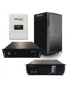 Kit d'Accumulo Fotovoltaico Trifase con Inverter 8 kW Ibrido Solax e Batterie al Litio Ferro Fosfato Pylontech da 9,6 a 14,4 kWh