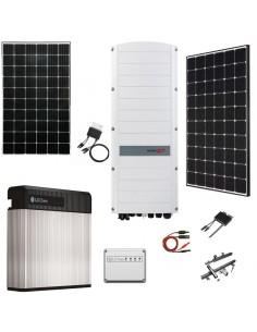 Kit Fotovoltaico 8 kW Trifase con Sistema di Accumulo LG Chem, Inverter Ibrido SolarEdge e Moduli SolarEdge o LG