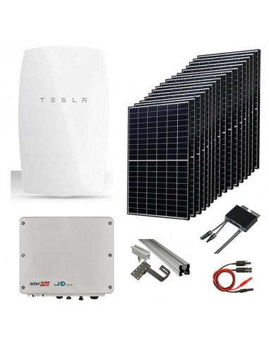 Kit Fotovoltaico 6 kW con Batteria Tesla Powerwall e Inverter SolarEdge
