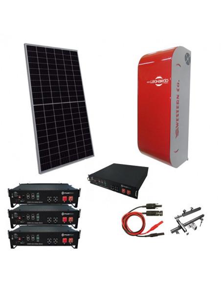 Impianto Fotovoltaico a Isola 4 kW Off-Grid Stand Alone con Accumulo Pylontech e Inverter Ibrido Leonardo Western