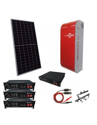 Impianto Fotovoltaico a Isola 6 kW Off-Grid Stand Alone con Batteria Pylontech e Inverter Ibrido Leonardo Western